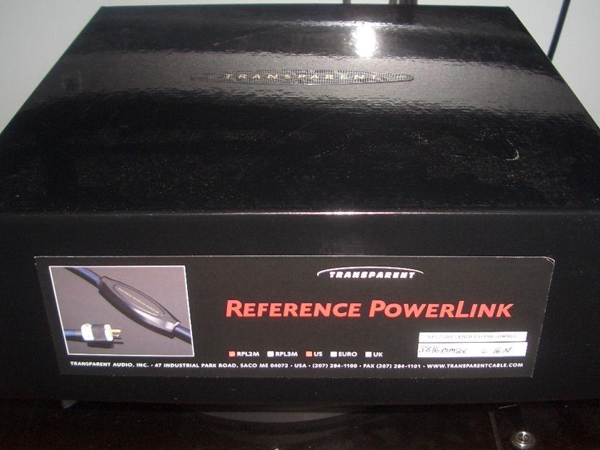 TRANSPARENT AUDIO REFERENCE POWERLINK MM2X *2 METERS* 15A PLUG ORIGINAL BOX