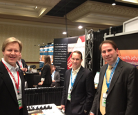 David Kern - right - at the booth of Walnut Creek Calif.-based Advisor Partners.