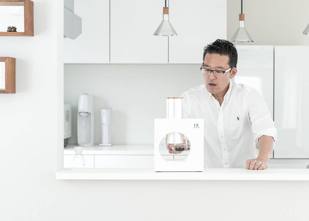 Cuzen Matcha maker in the kitchen