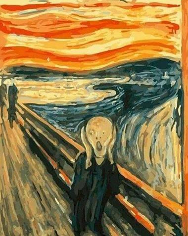 peinture par numéro le cri