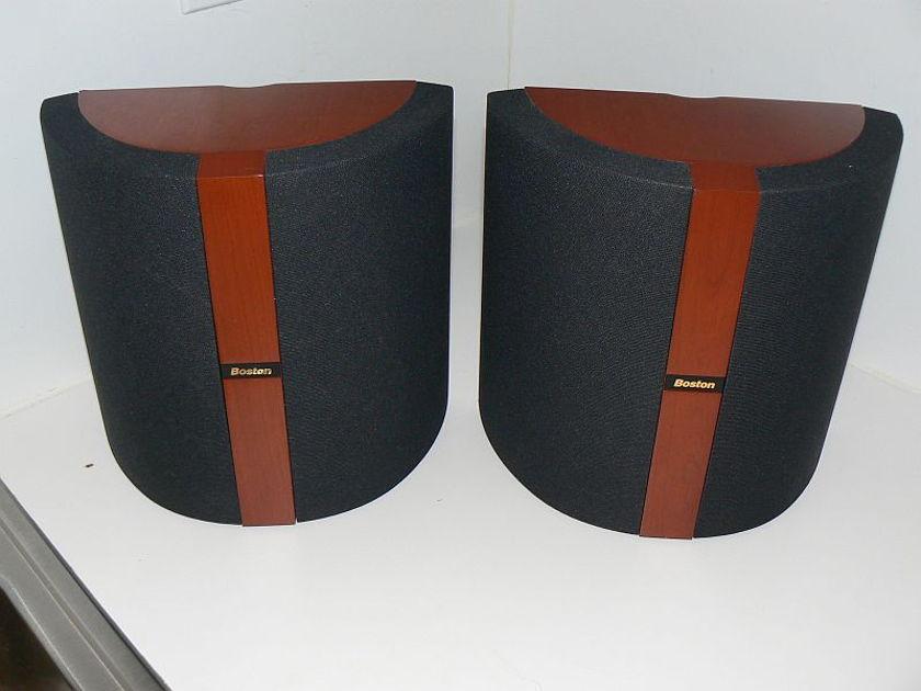 Boston Acoustics VRMX cherry pair mint with brackets