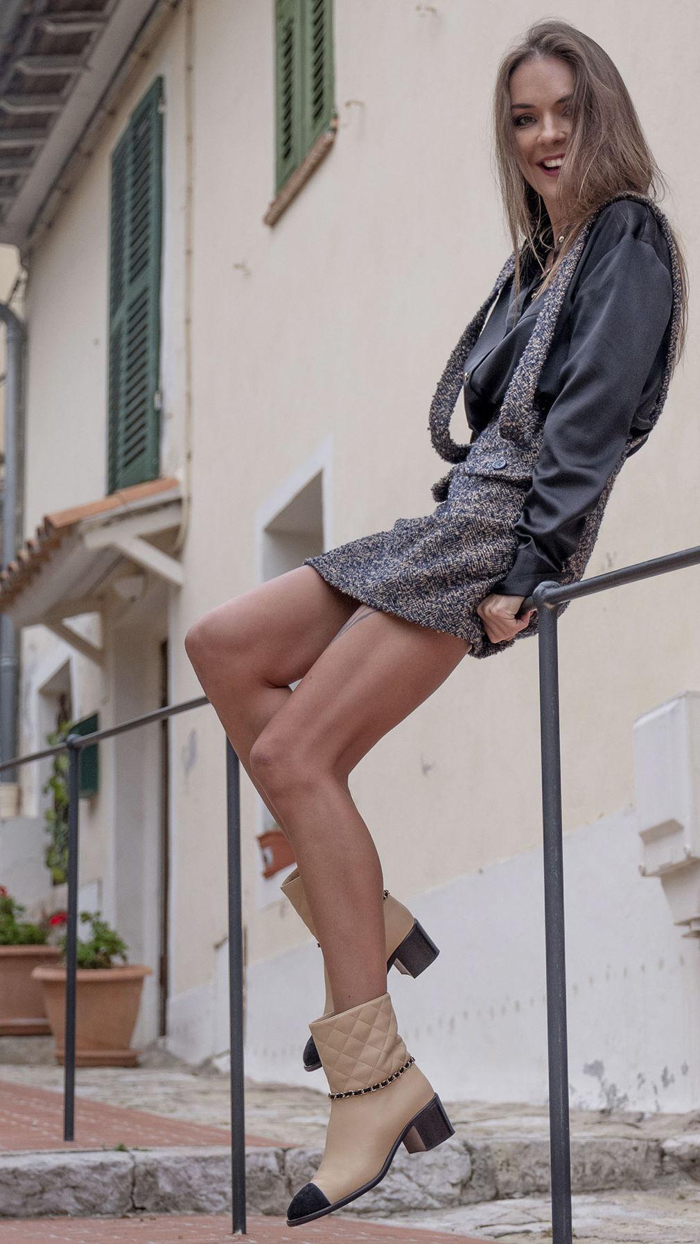 Твидовая юбка мини