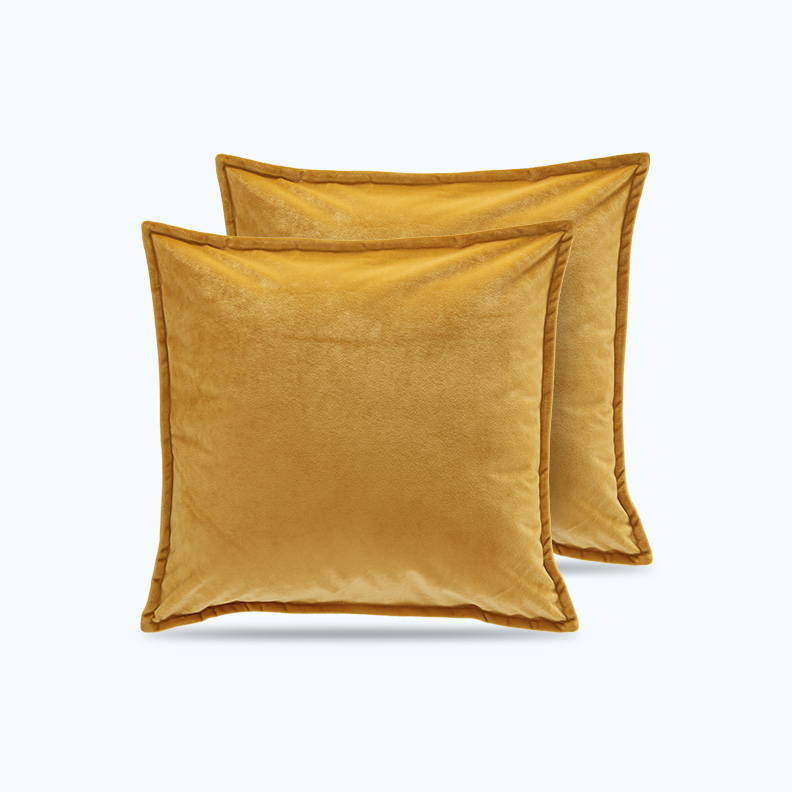 sleep zone bedding website store products collections satin pillowcase velvet throw pillow covers  golden yellow