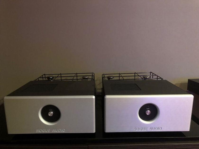 Rogue Audio M-180 Brand new demo tube monoblock amplifiers - silver