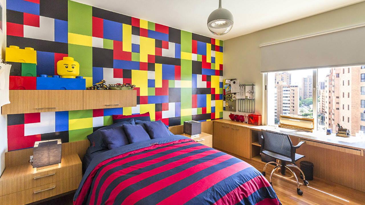 LEGO inspired kid room ideas