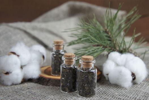 Иван-чай гранулированный, ферментированный, в стеклянной колбочке.