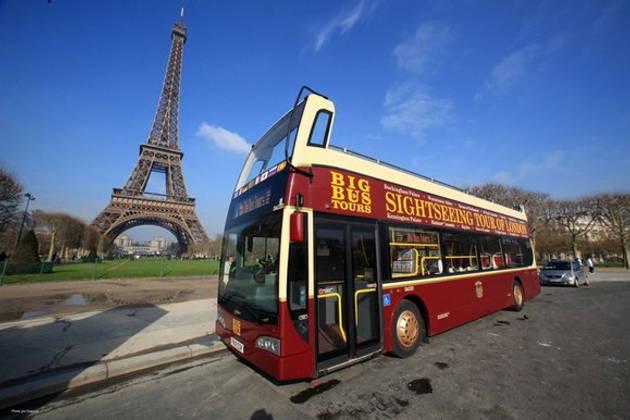Париж картинка автобусов себе, это