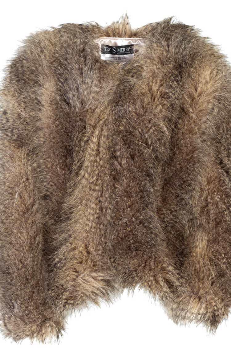 Коричневая шуба из Чебурашки