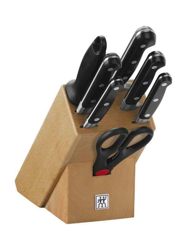 Knife Set Wood Block, 8 pcs.