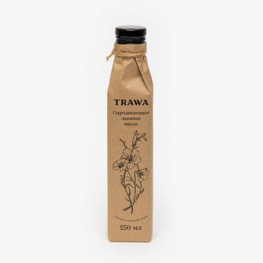 Сыродавленное льняное масло TRAWA, 250 мл