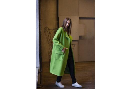Пальто халат зеленое