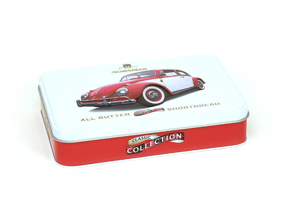 Bespoke Campbells tin with embossed car