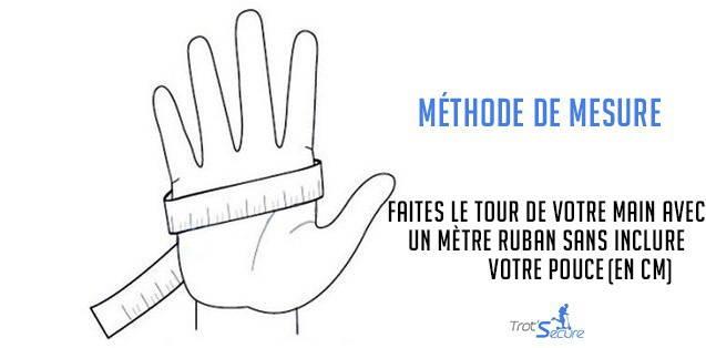 methode mesure gants trottinette respirants