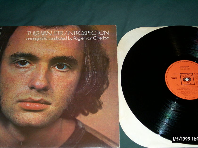 Thijs Van Leer (Focus) - Introspection CBS Records UK Vinyl LP NM
