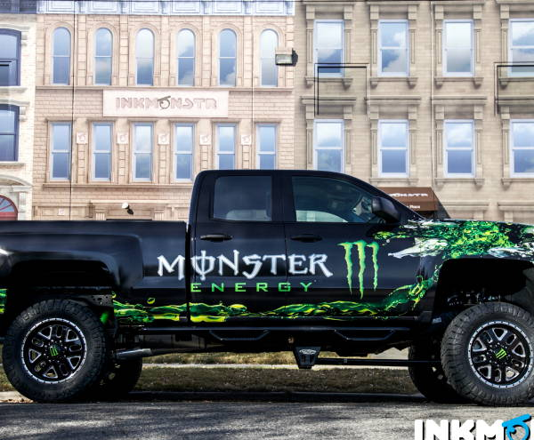 Vinyl Spot Graphic/Decals - monster Energy Truck Graphic