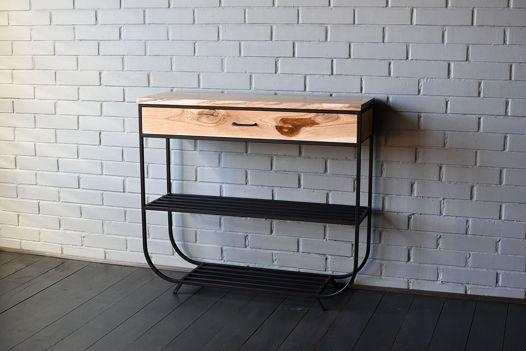 Консольный стол из дуба с выдвижным ящиком Hall Oak 100
