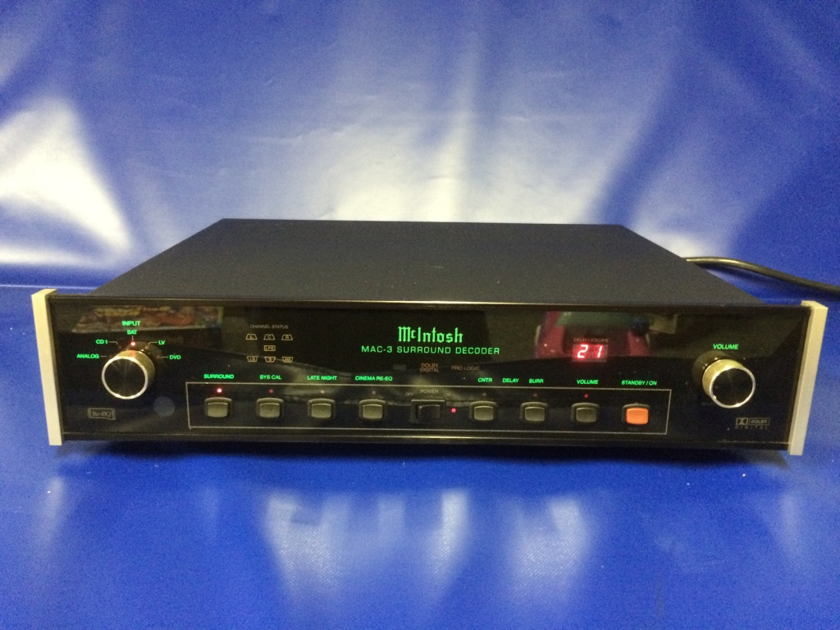 McIntosh MAC-3 Surround Decoder + HR39 Remote and MVS-3