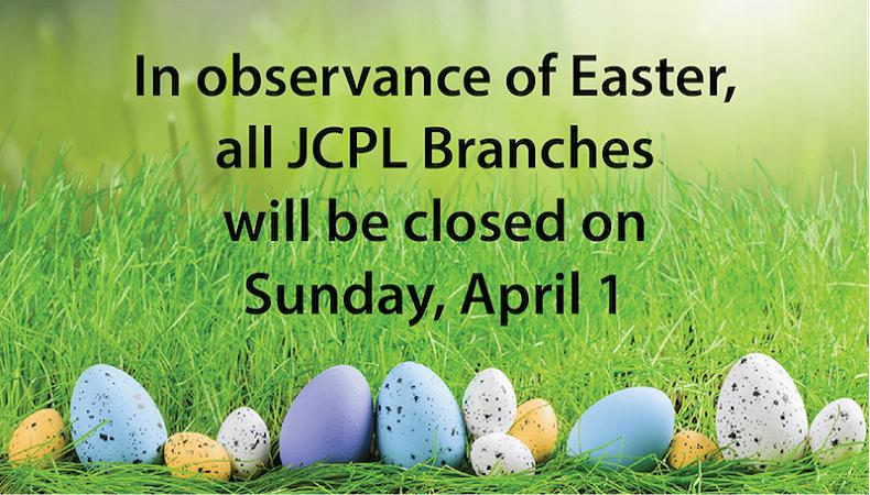 JCPL closed on Sunday, April 1