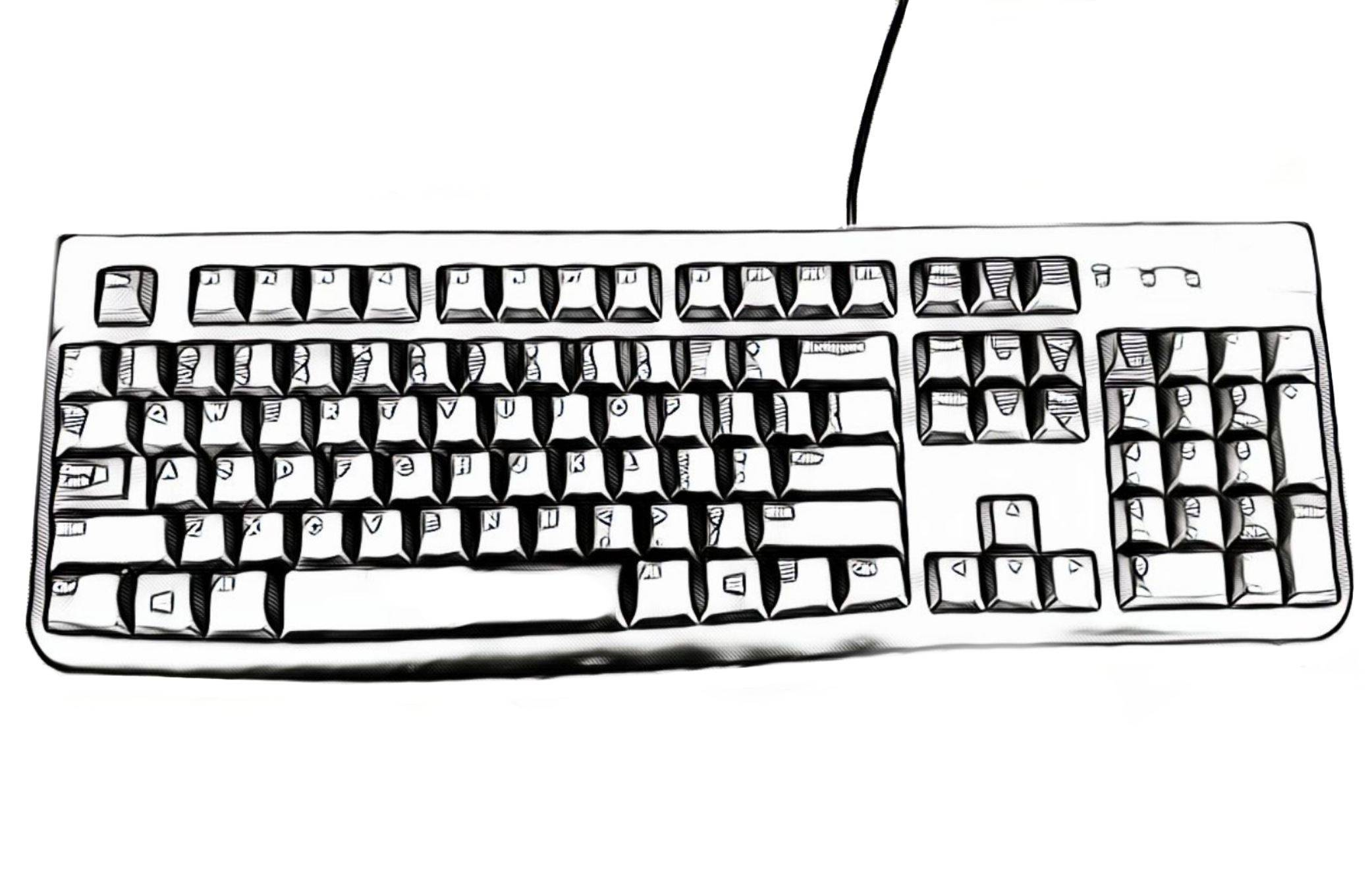 standard keyboard drawing