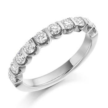 Platinum and diamond eternity ring Pobjoy Diamonds
