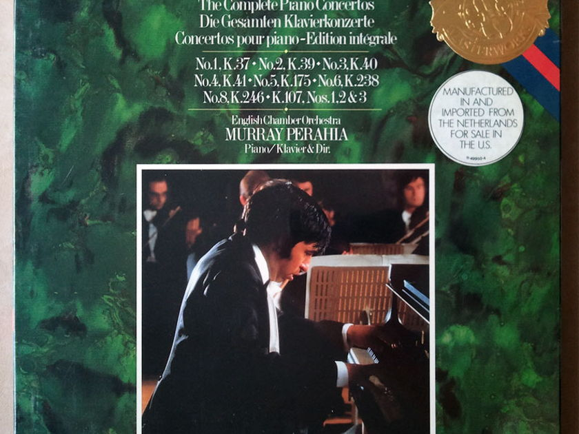 Sealed CBS   PERAHIA/MOZART - Piano Concerto Nos. 1, 2, 3, 4, 5, 6, 8, K. 107  / 3-LP Box Set