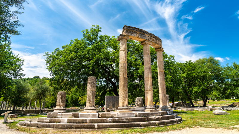 Olympia, The Philippeion at the Archaeological Site