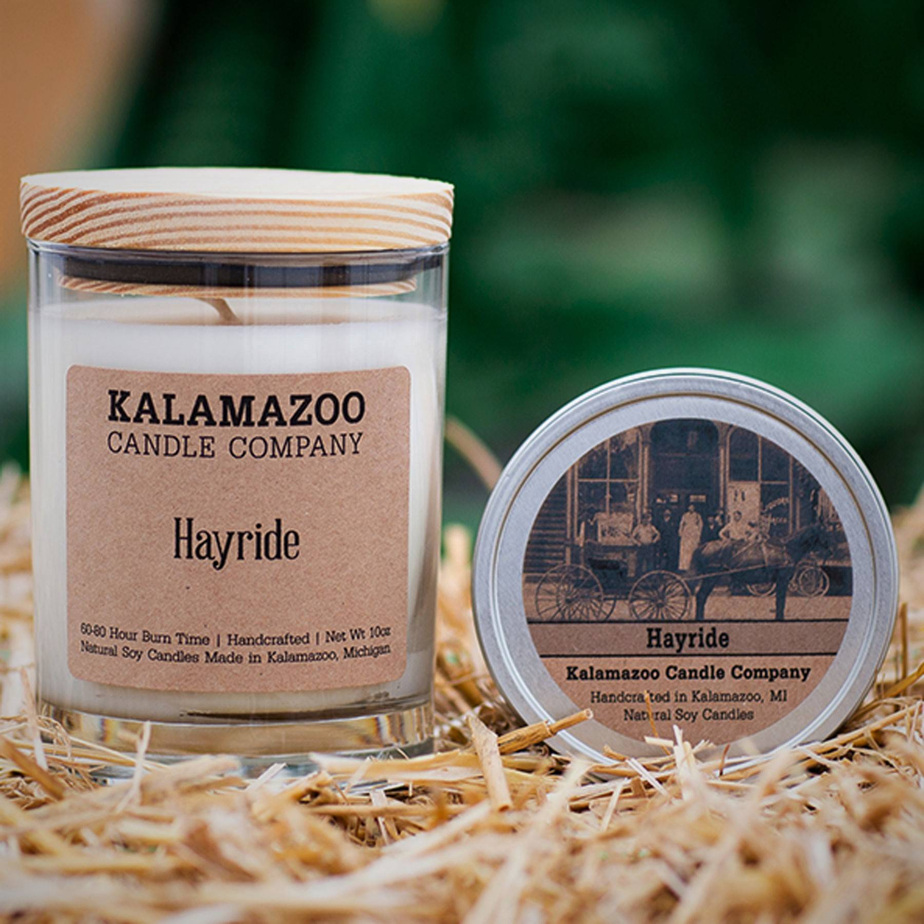 Hayride natural soy wax scented candle