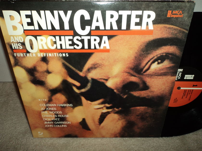 """Benny Carter, Coleman Hawkins, Charles Rouse - """"Further Definitions"""" Impulse Audiophile KC 569 vinyl (NM)"""