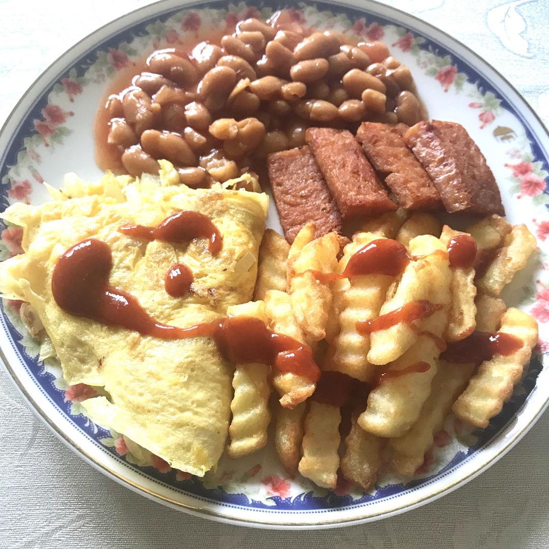 English breakfast 🥞 Yummy! 😍