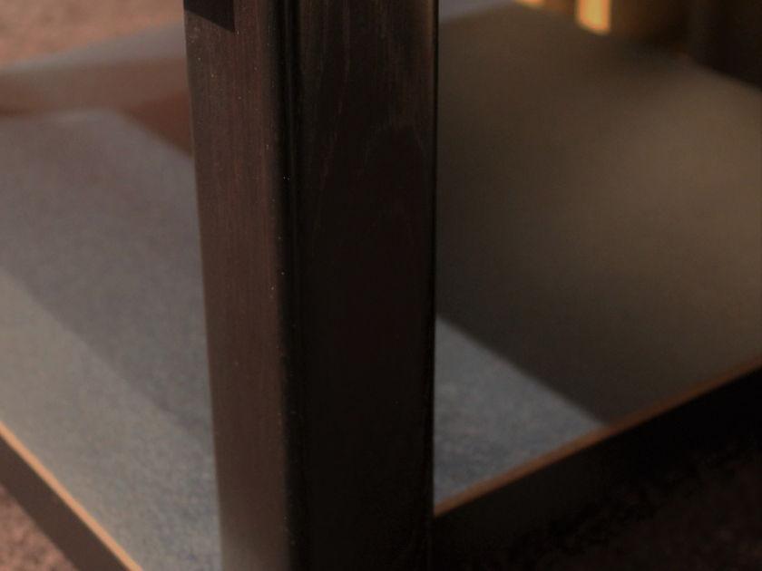Audiophile Vibration Control 2 Shelf Component Rack  Navy Blue and Black