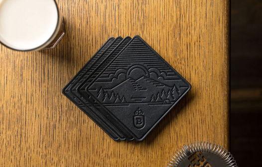 Сувенирный набор костеров для бара, Porter, 4 шт. в подарочной упаковке
