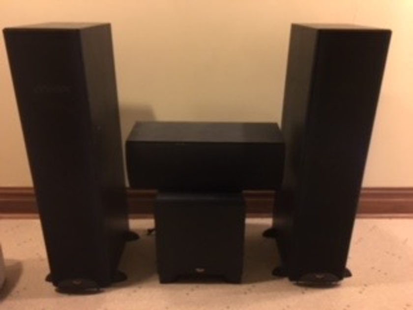 Klipsch RF-3ii 2 Tower Speakers, Center and Sub-woofer