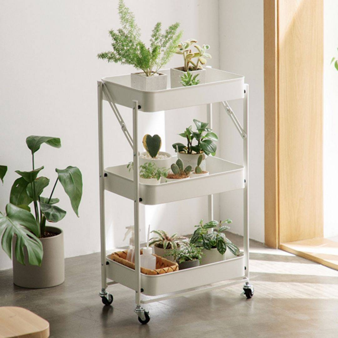 utility cart, rolling rack, white trolley
