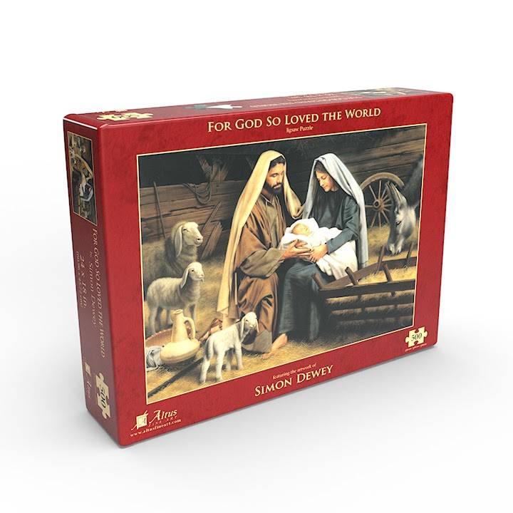 Christian 500 piece puzzle of Nativity Scene.
