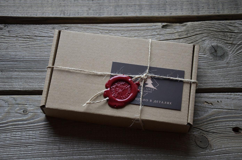 Холдер для документов Elm, рыжая  натуральная кожа Италия