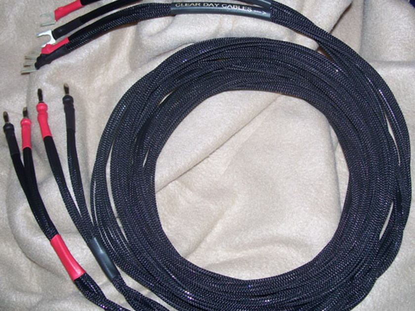 Clear Day Cables Solid Core 8ft double shotgun