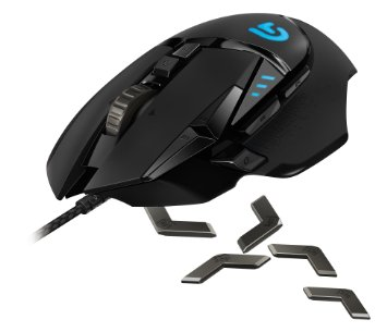 Logitech G502 Proteus Spectrum vs Logitech G602 detailed