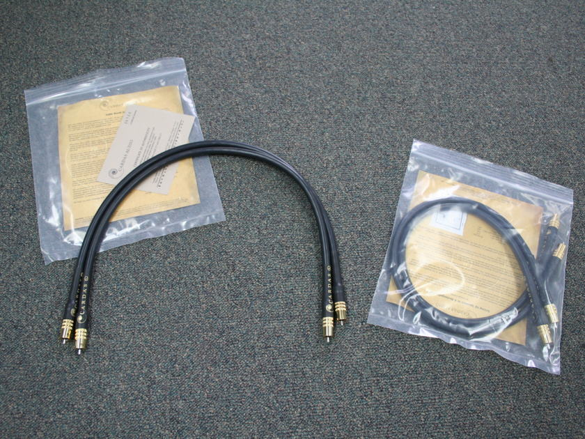 Cardas Golden Reference .75m RCA's -- GORGEOUS -- (see pics)