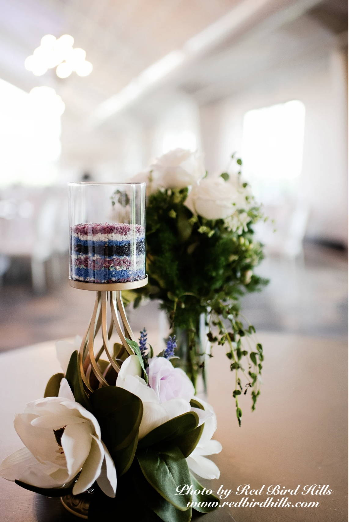 Frit Mixed on display at wedding. Photograph taken by Red Bird Hills.