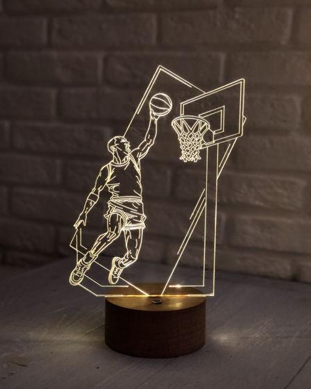 """Ночник """"Баскетболист с мячом"""""""