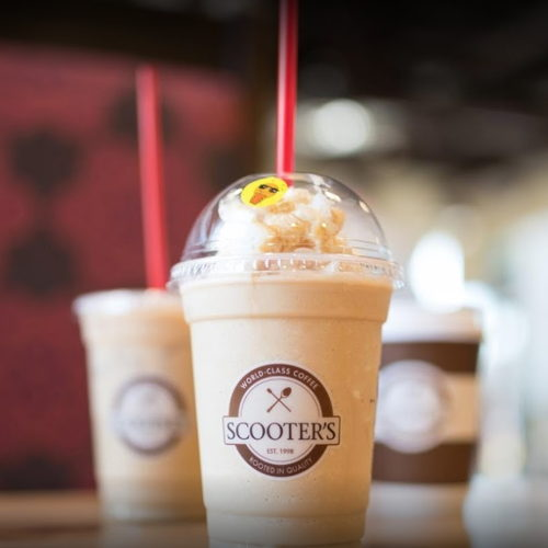 Picture of Scooter's Coffee drive-thrus are open.