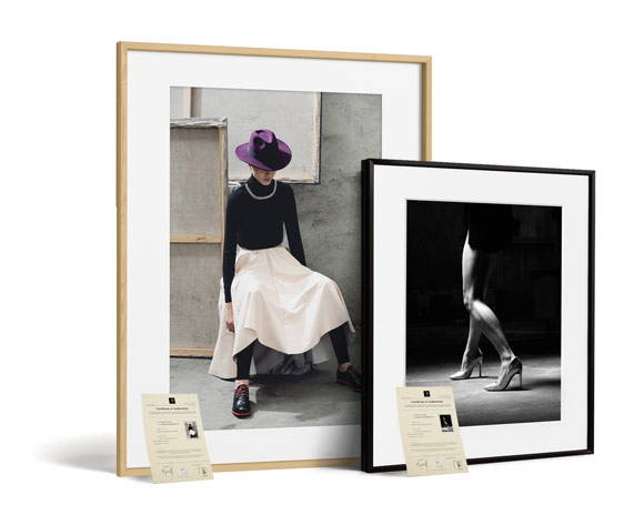 Monochrome Hub Gallery artworks with certificate of authenticity