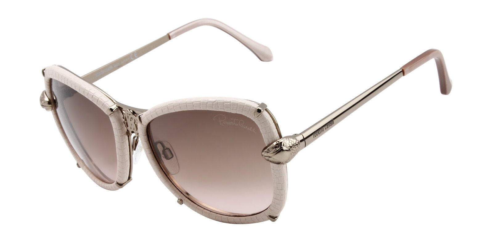 ROBERTO CAVALLI WOMEN'S 915S-A PINK  BROWN LENS SUNGLASSES (front)