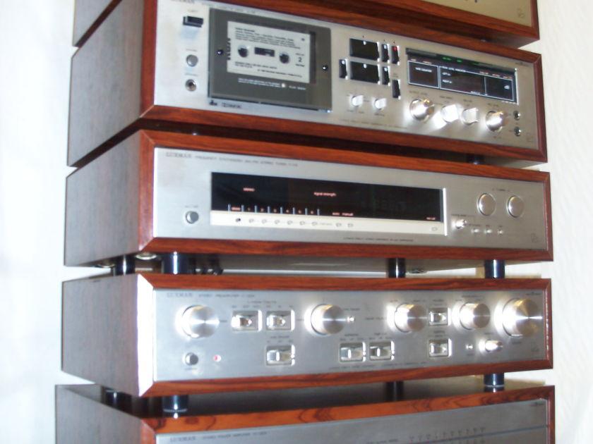 Vintage Luxman Audio Amplifer  M120a, G-120a, T-115, C-120a, K-118, remote