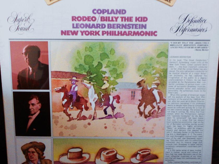 FACTORY SEALED ~ LEONARD BERNSTEIN ~ NEW YORK PHILHARMONIC -  ~ COPLAND ~ RODEO & BILLY THE KID~ COLUMBIA M 31823 (1973)