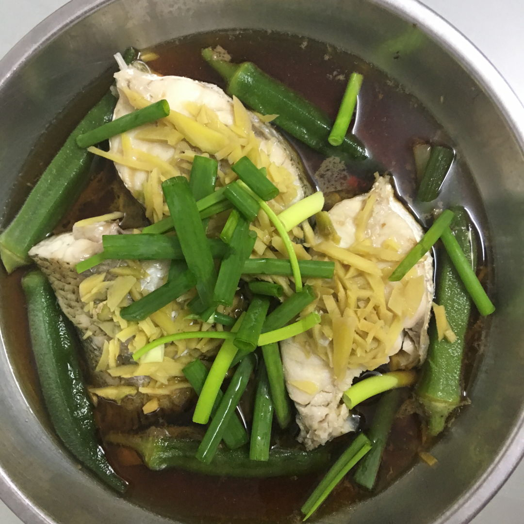 April 18th, 20 - steamed fish with lady fingers