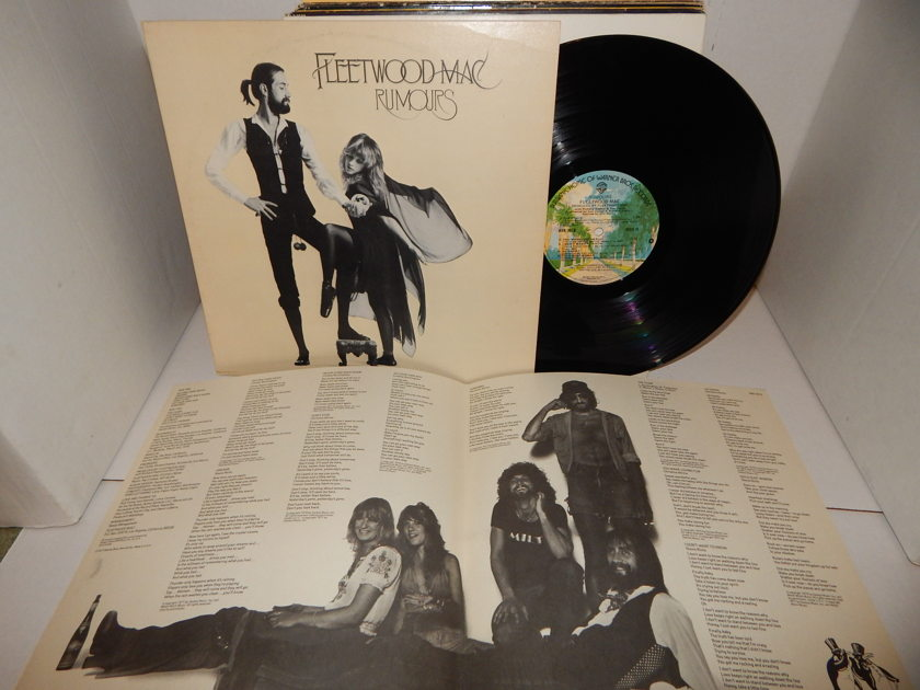 Fleetwood Mac Rumours 1st Press - Palm Tree BSK 3010 heavy weight textured Mastered by Capitol KP stampers Super Clean & foldout LP