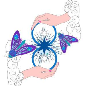 Foulard bandeau en soie Collection le papillon de nuit virginie riou