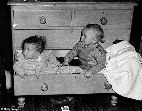 Baby box history | Babies sleeping in drawers