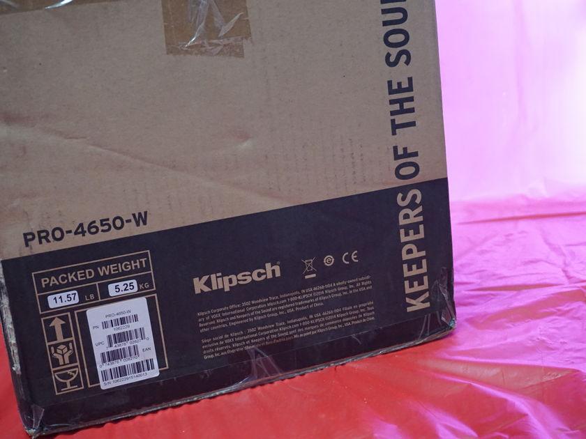 Klipsch PRO-4650-W Pair In Wall Speakers